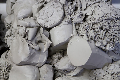 Clay that is not used or parts that disappoint get recycled.