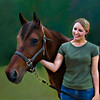 I'm so glad I got this picture of my son's girlfriend Annie and her horse. Tex is 32 years old and still a stellar specimen.  While the photograph contained a lot of confusing and distracting elements I was able to 'paint' them away concentrating on the two beautiful subjects. See accompanying origional photograph.