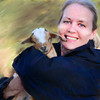 A Photo portrait of my dear friend Phyllis and Chestnut, one of our little goats.
