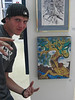 The boy/child/man is an artist!  Whoohooooooo!<br /> This is our son Cassidy, shown here with one of his pieces at the Coyote Gallery, Butte College, 2007.  Many of you have met Cassidy at some of the faires where he has been joining me in the creative process.