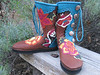 Frida Kahlo inspired boots... my oh my... beautiful boots for a beautiful woman.