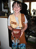 And here is Kellen with his leather vest and new pouch to go with it!  Didn't he do a great job?!  Such a creative person!  Not shown is the 'bandolier' he made to go over the vest.  Holds lots of handy things... things that young men can't do without!