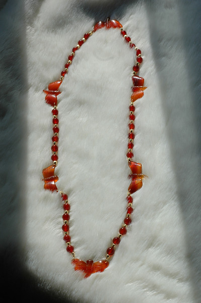 carnelian dragonflies with agate rounds and gp barrels