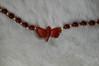 detail: carnelian dragonfly