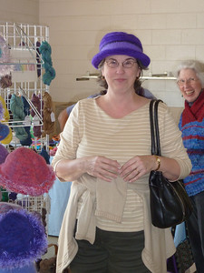 None of us has done much felting,but these hats are cute,