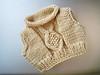 Teddy bear sweater.  Winter, 2011.