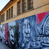 grafitti on the walls of Les Abattoires in Casablanca (old slaughterhouse)