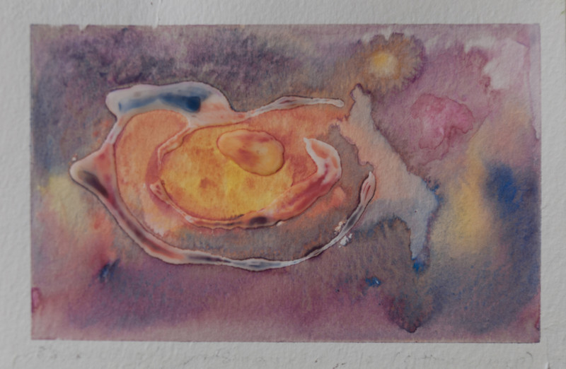 "Untitled<br /> Media: watercolor 4""x6""<br /> $85"