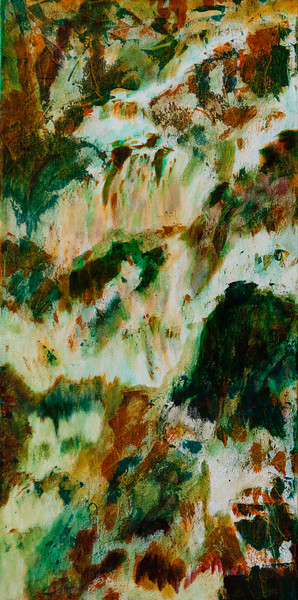 "Falling Water<br /> Media: Acrylic on canvas 12"" x 24""<br /> $250"
