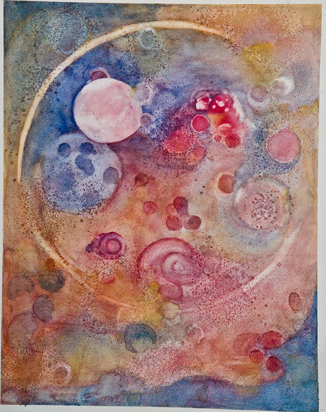 "Space<br /> Media: water color 14"" x 11""<br /> NFS"