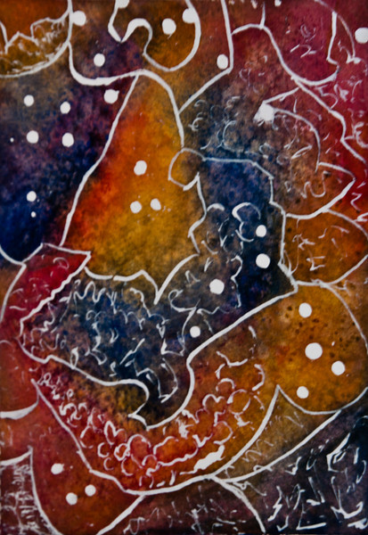 "Accidental Constellation<br /> Media: Mixed Media (water & ink) 6 5/8"" x 4 5/8""<br /> $85"