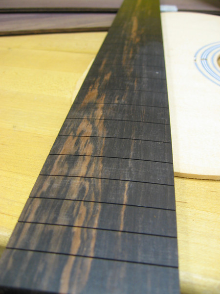 Macassar ebony finger board
