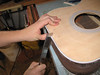 Opening up the neck mortise.