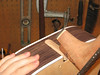 Fitting the mortise and tenon neck joint.