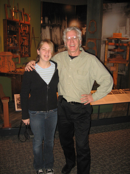 Lydia at Martin Guitars with Dick Boak, Director of Artist Relations.