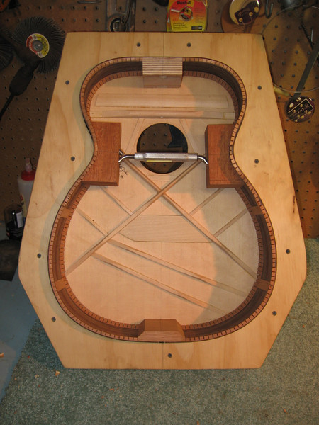 The top is glued in place.
