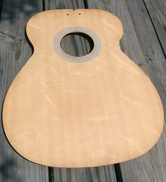 The top. Notice the nice bear-claw figure of the sitka spruce top.