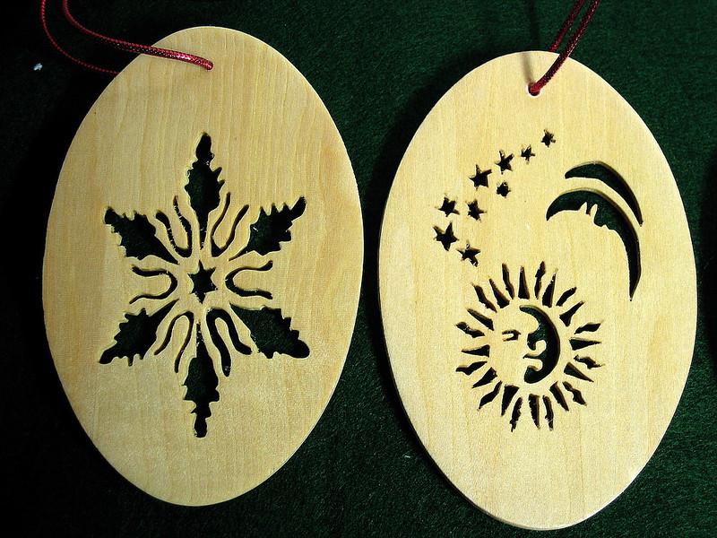 DEC 07 ORNAMENTS BOX - SNOWFLAKE - MOON & SUN