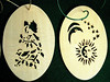 DEC 07 ORNAMENTS BOX - BIRDS ON HOLLY - MOON & SUN
