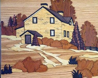 WOOD MARQUETERIE - HOUSE