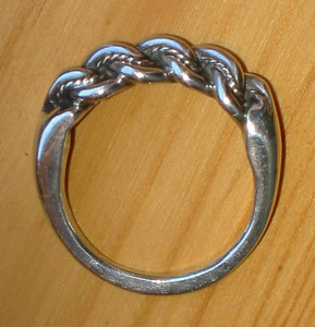 Traditional Latvian ring Sterling silver-925S