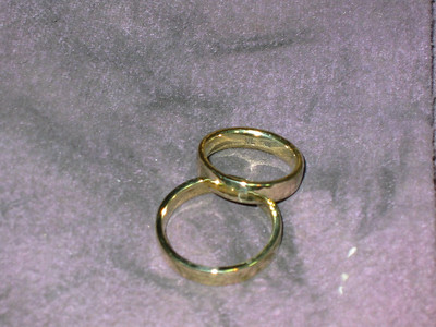 Forged wedding-bands gold 858/14K
