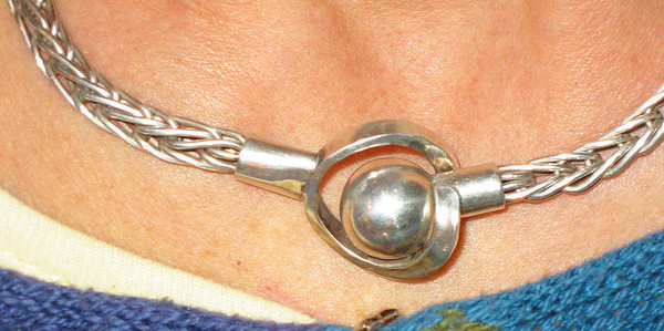 Silver clasp. Sterling 925s