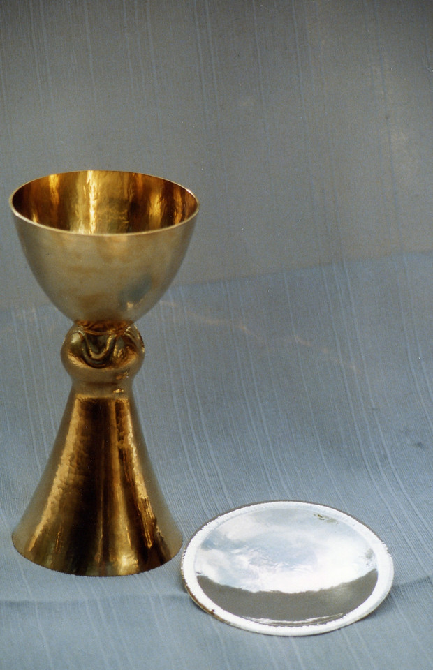 Gilded Sterlling Silver altar-chalice  silver paten  Staffansgården, Sweden