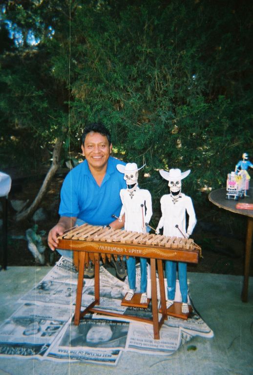 A. Joel Garcia Ventura, a Mexican papier mache artist from Mexico City living in San Diego, California - LADAP event 2003