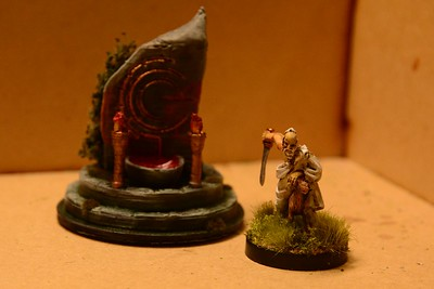 Warlord Games resin druid sacrificing ram in front of forest altar (3d printed)(116-117)