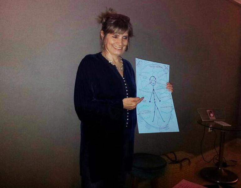 Ingrid Pullar fait une présentation de Rebirthing au Mardis Lethus, Casablanca.