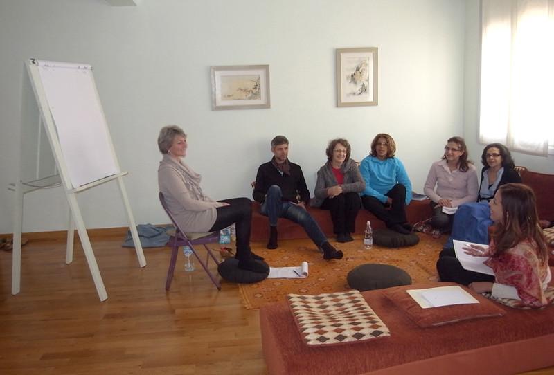 Supervision avec Caroline Voegeli et Laurent Biville à la salle des Asphodèles.