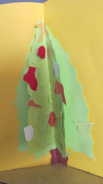 Christmas 2012 Handmade card by Eleni 10 years old.