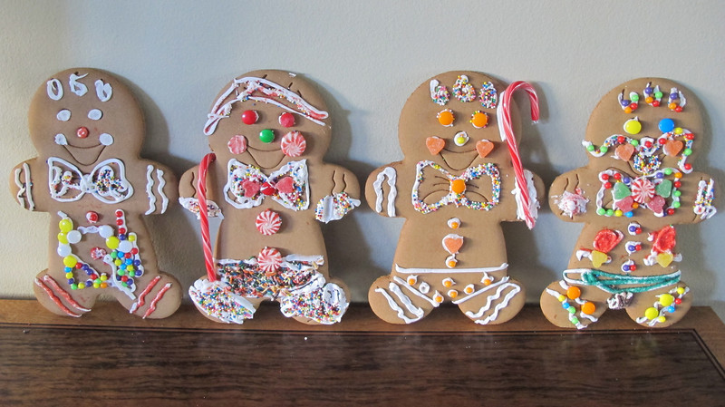 2012 Christmas Gingerbread Men by Bailey, Caysen, Eleni and Dani