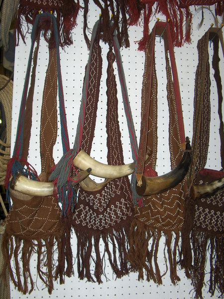 Background Shooting Bags- The project here was to create a quantity of bags for the background actors and extras to carry.  I dyed the burlap in several colors, sent it to be silkscreened with 4 different patterns, and by the end of the project there were 60 bags in a variety of patterns and colors.
