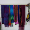 PAT'S HANDWOVEN SCARVES ON ARROW RACK