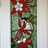 STUDIO DOOR, COLUMBINE IN LEADED GLASS