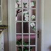 BEDROOM DOOR FUSED GLASS<br /> DOGWOOD ABOVE TRILLIUM