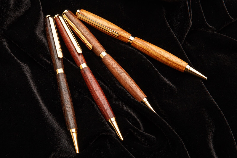 Exotic wood hand turned pens