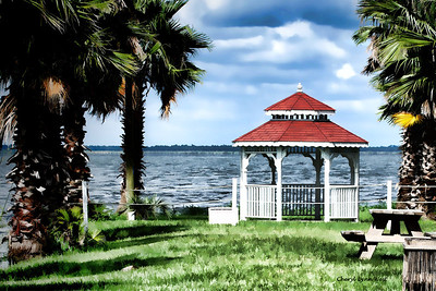 Gazebo at Black Hammock on Lake  Jessup, FL