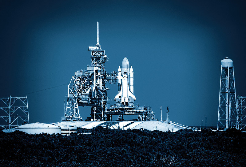 One of the last shuttle launches, Kennedy Space Center, FL