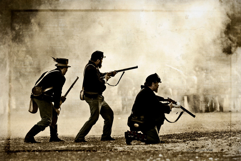 Civil War re-enactment in Mt. Dora, FL