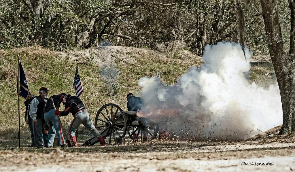 Civil War re-enactment in Mt. Dora, FL