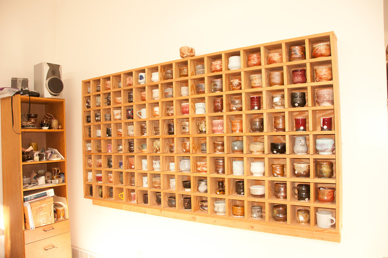 Pretty wall of mugs