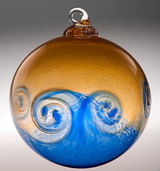 """Anchor Bend Glassworks """"Sunset Wave"""" ornament"""