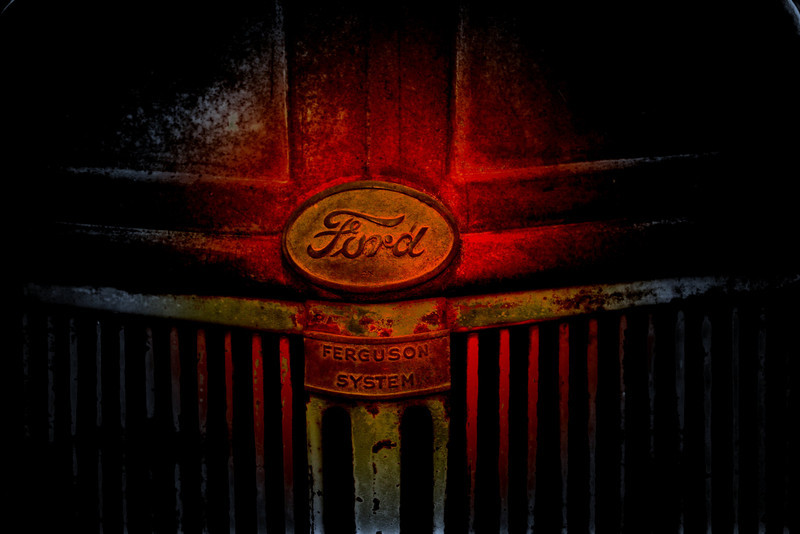 `I won second place at the show for this Picture I called Dad Ford 2N Tractor