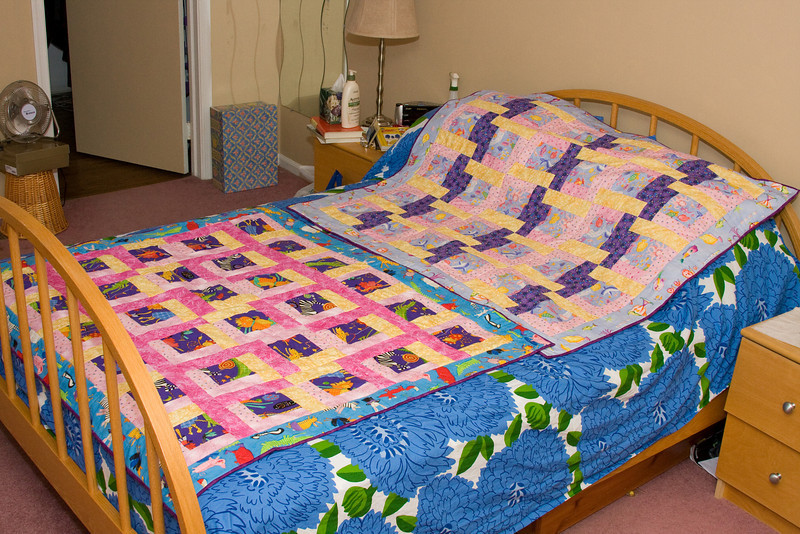 Quilts for Camille and Jackie<br /> Crib Size<br /> July 2008