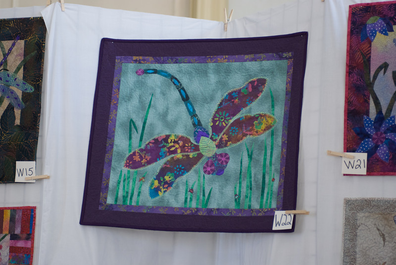 "In the show.  I don't know the quilter.  It was with several ""organic"" designs.  This one had fun color."