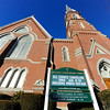 A sign in front of Rollstone Congregational Church on Main St. in Fitchburg gives information on the repair work at the church, Thursday, after frozen pipes recently. <br /> SENTINEL & ENTERPRISE / BRETT CRAWFORD