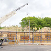 The Jehovah's Witnesses are building a new 6,100 square foot Kingdom Hall at 1275 Central Street in Leominster. They were trying to beat the rain on Friday and get a lot done. SENTINEL & ENTERPRISE/JOHN LOVE